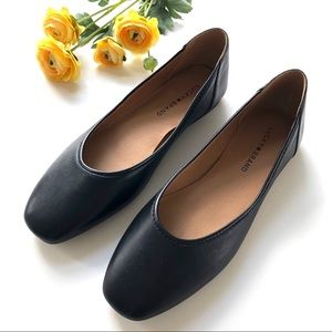 NEW Lucky Brand • Alanya Black Leather Flats
